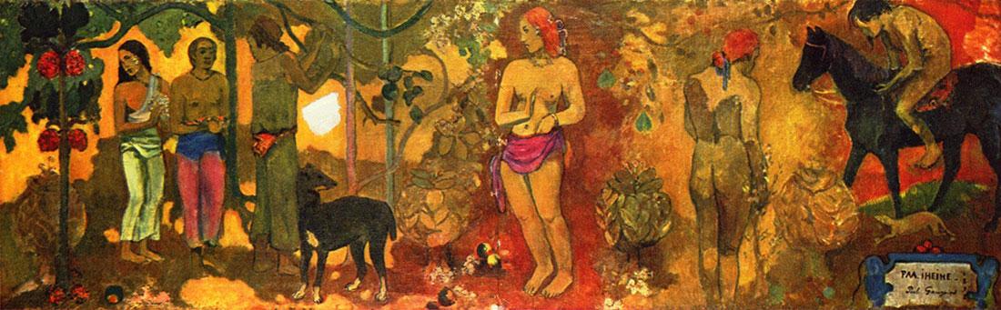"""""""Faa Ilheihe"""" de 1898 por Paul Gauguin (1848-1903)"""