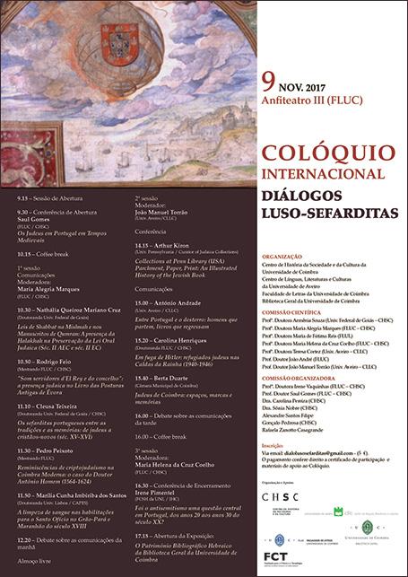 "Colóquio Internacional ""Diálogos Luso-Sefarditas"""