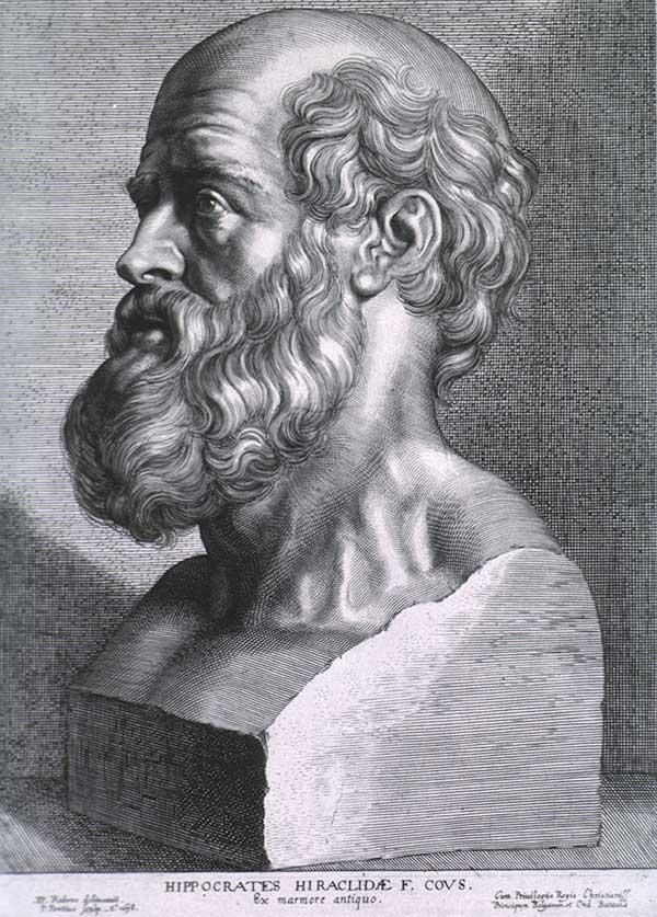 Hipócrates (460 – 370 aC) de 1638 por Paul Rubens (1577-1640)