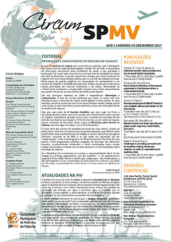 Newsletter da Sociedade Portuguesa de Medicina do Viajante - dezembro 2017