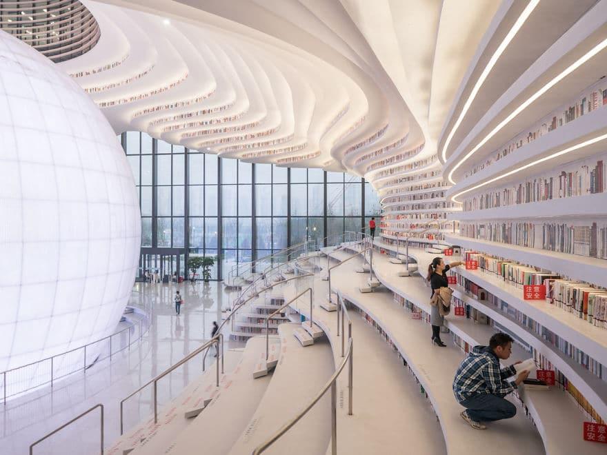 China inaugura a biblioteca mais espetacular do mundo com 1,2 milhões de livros e o interior é de cortar a respiração