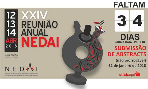 XXIV - Reunião Anual NEDAI - 12,13 e 14 de Abril de 2018 - Submissão de Abstracts NEDAI 2018