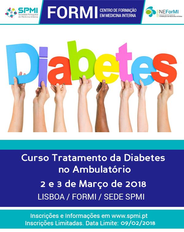 Curso de Tratamento da Diabetes Ambulatório - Abertas as Inscrições