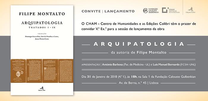 """Sessão de lançamento da obra """"ARQUIPATOLOGIA - Tratados I – IX"""" de Filipe Montalto"""