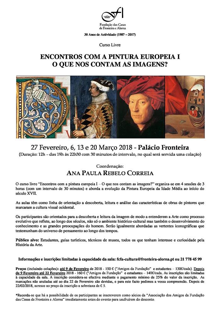 """Curso Livre """"Encontros com a Pintura Europeia I - O que nos contam as Imagens?"""""""