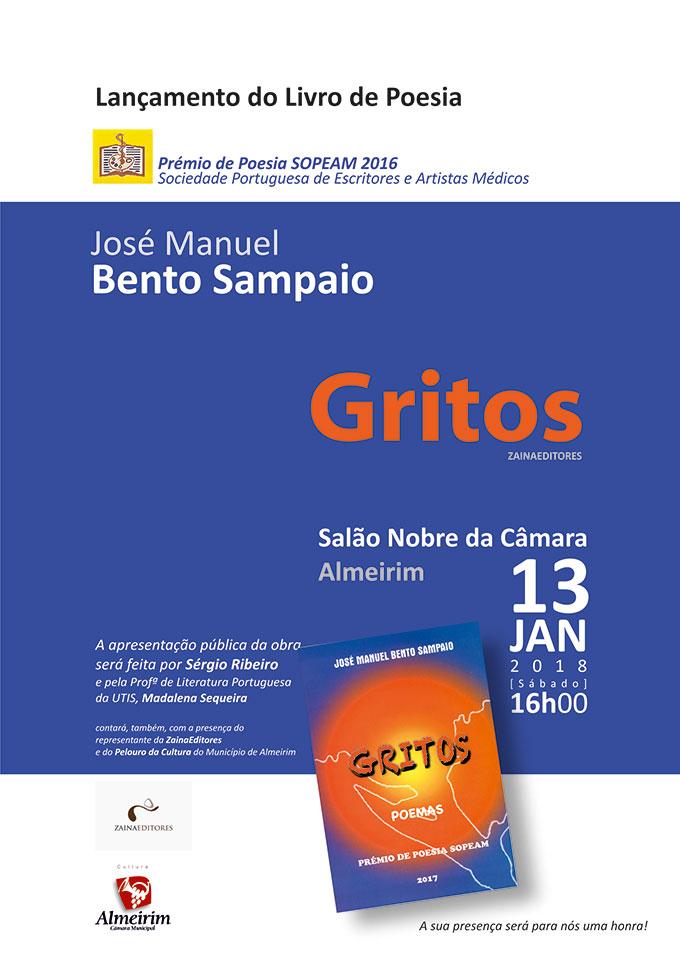 """Lançamento do livro """"GRITOS"""""""
