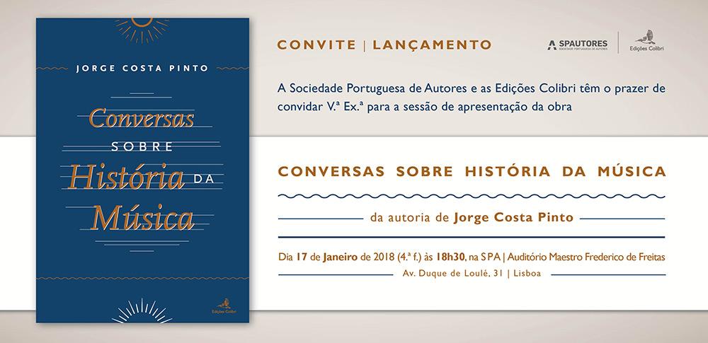 Sessão de apresentação da obra Conversas Sobre História da Música de Jorge Costa Pinto