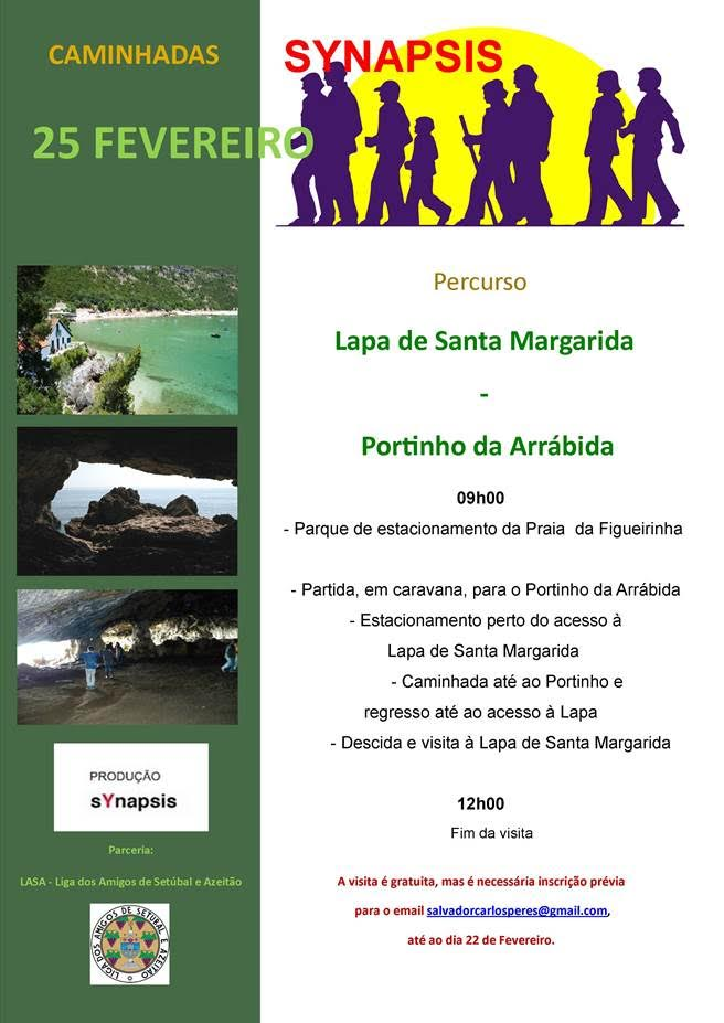 Caminhada Synapsis Lapa de Santa Margarida e Portinho Arrábida - 25 Fevereiro