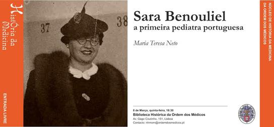 Sara Benouliel a primeira pediatra portuguesa