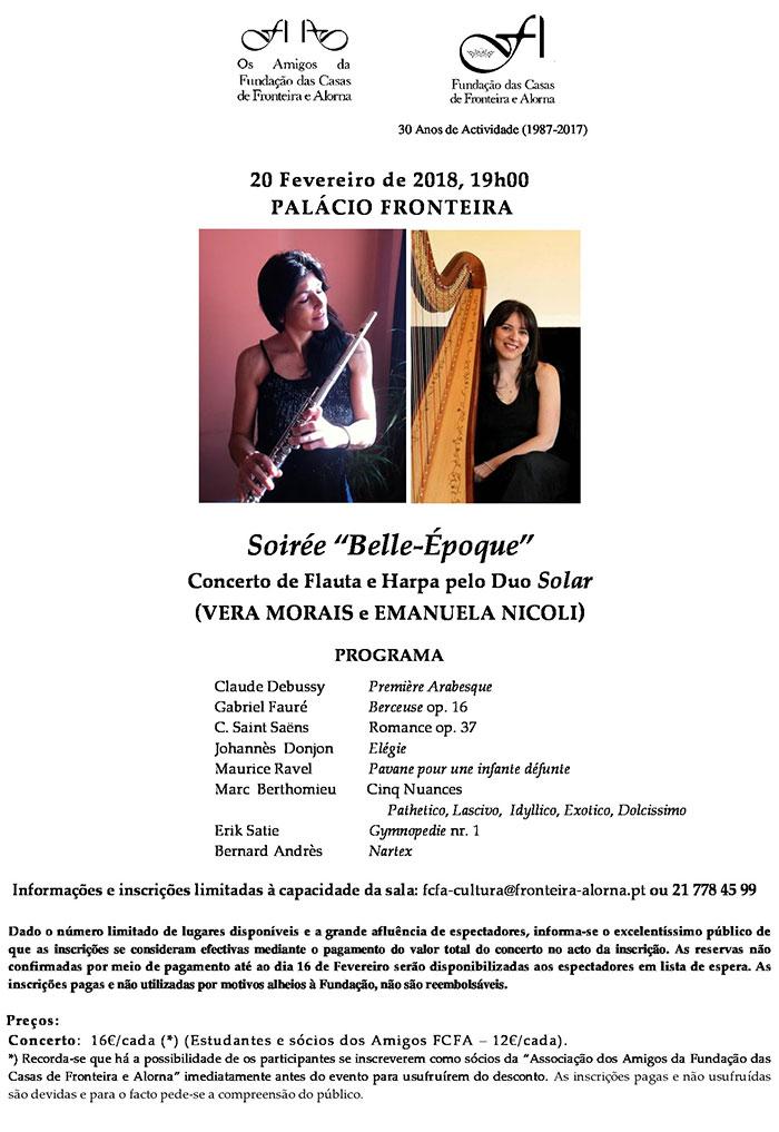 """Soirée """"Belle-Époque"""" - Concerto de Flauta e Harpa pelo Duo Solar"""