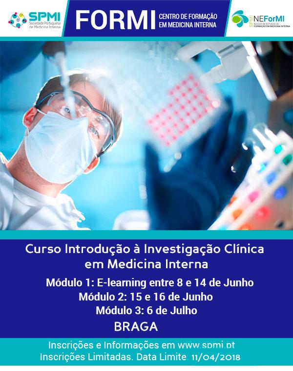 Curso Introdução à Investigação Clínica em Medicina Interna - Novas datas