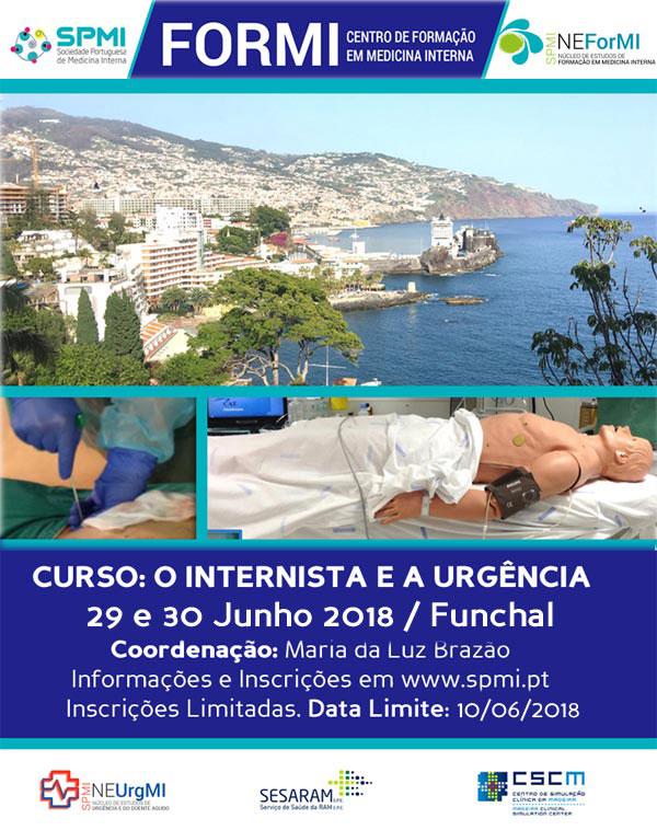 O Internista e a Urgência 2018 - Inscrições Abertas
