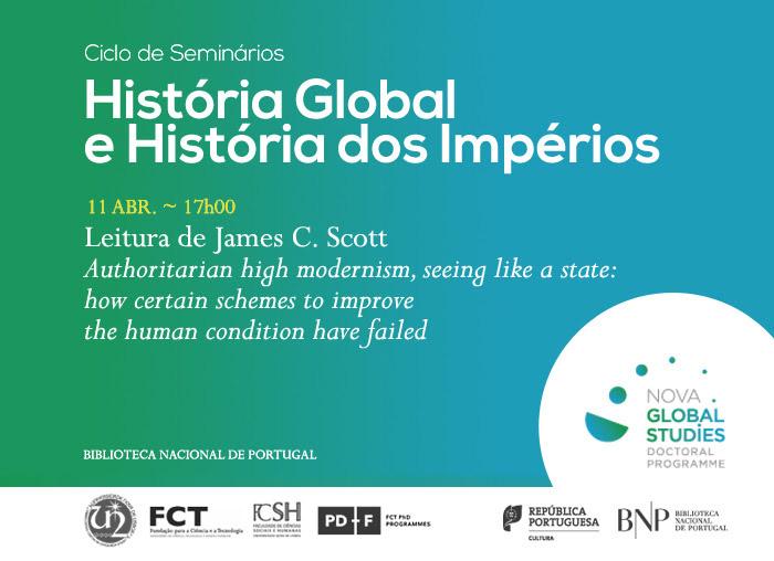 Ciclo de Seminários   História Global e História dos Impérios   11 abr.   17h00   BNP