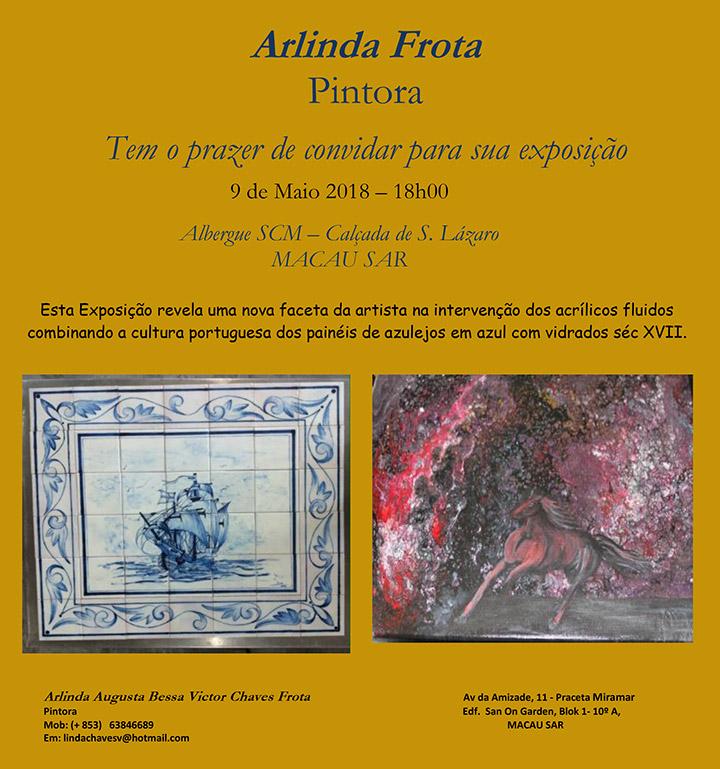 Arlinda Frota, Pintora - Exposição - 9 de Maio 2018 – 18h00