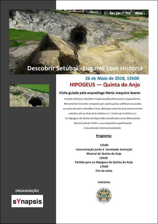 Synapsis convida - Visita guiada aos Hipogeus de Quinta do Anjo - 26 Maio, 15h00