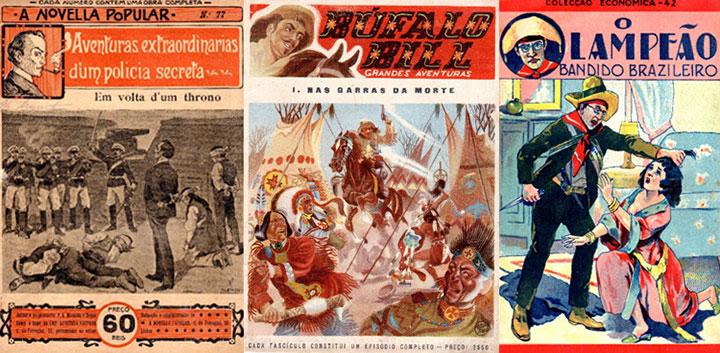 A «Novella Popular» foi a série mais famosa com as aventuras de Sherlock Holmes. Estes fascículos de Búfalo Bill tinham capas de Vítor Péon (desenhador português). Nas capas dos fascículos eram quase sempre retratadas cenas cruéis ou violentas.