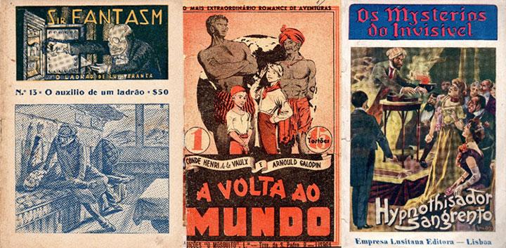Sir Fantasm era um ladrão de luva branca. Esta edição de «A volta ao mundo» possuía ilustrações dos desenhadores portugueses Jayme Cortez e E.T. Coelho. Com 72 fascículos publicados, a obra ficaria incompleta. Os temas variavam e o hipnotismo não foi esquecido nos fascículos.