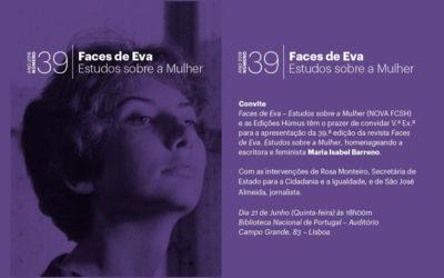 Lançamento | Revista Faces de Eva. Estudos sobre a Mulher | 21 jun. | 18h00 | BNP