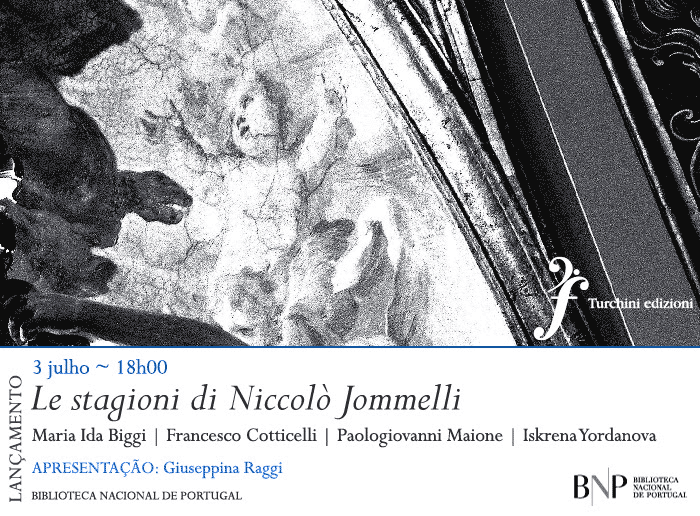 Lançamento | Le stagioni di Niccolò Jommelli | 3 jul. | 18h00 | BNP