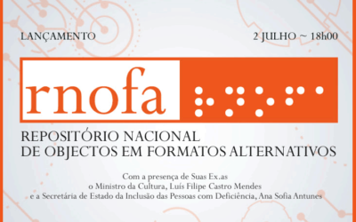 Lançamento | RNOFA: Repositório Nacional de Objetos em Formatos Alternativos | 2 jul. | 18h00 | BNP