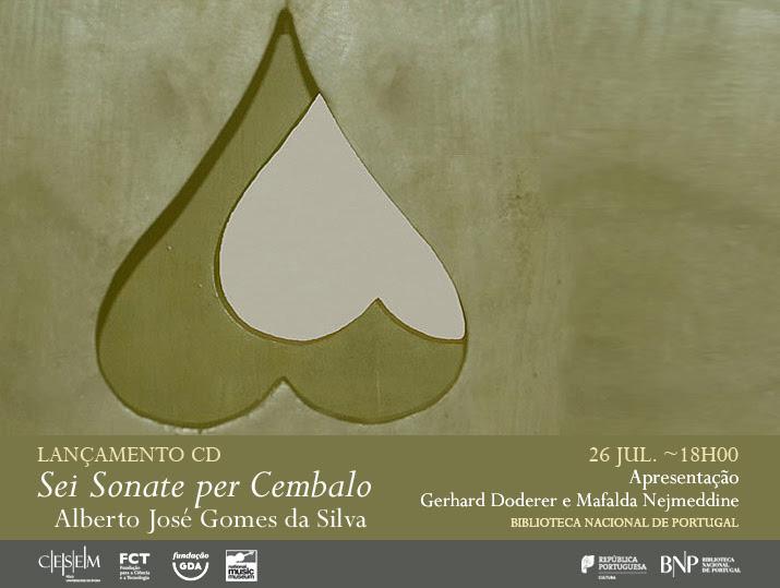 Lançamento CD | Sei Sonate per Cembalo | 26 jul . | 18h00 | BNP