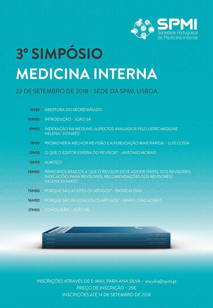 3º Simpósio da Revista de Medicina Interna - 22-09-2018