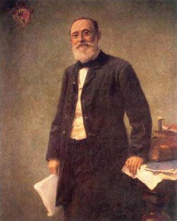 Retrato de Rodolph Virchow efetuado por Hugo Vogel em 1861