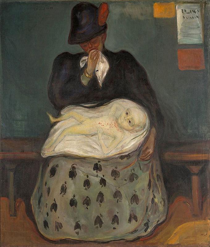 """Quadro de Edvard Munch, pintor norueguês (1865-1944) de 1906, intitulado """"A Herança"""""""