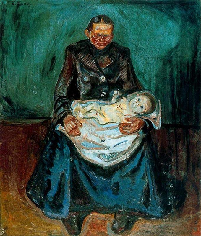 """Quadro de Edvard Munch, pintor norueguês (1865-1944) de 1905, intitulado """"A Herança"""""""
