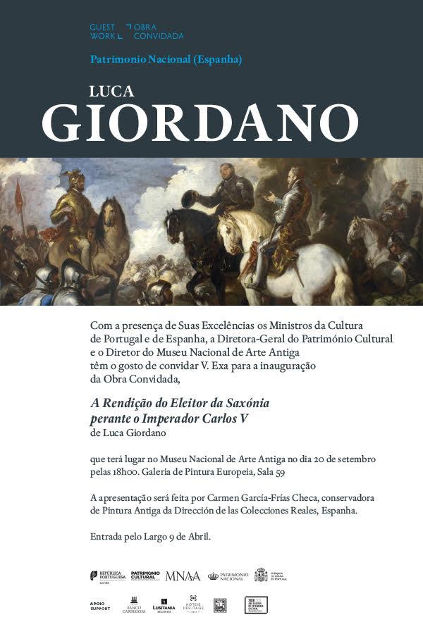 """MNAA-Museu Nacional de Arte Antiga - Inauguração da obra: Luca Giordano """"A Rendição do Eleitor da Saxónia perante Carlos V"""""""