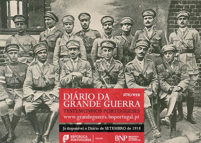 Sítio Web   Diário da Grande Guerra: testemunhos portugueses   setembro de 1918