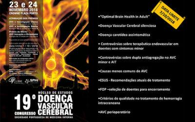 Últimos dias para submissão de Resumos   19º Congresso do Núcleo de Estudos da Doença Vascular Cerebral