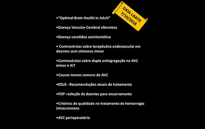 Últimos dias para submissão de Resumos | 19º Congresso do Núcleo de Estudos da Doença Vascular Cerebral