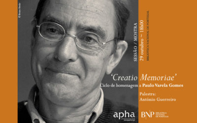 Sessão / Mostra | Paulo Varela Gomes (1952-2016) | 29 out. | 18h00 | BNP