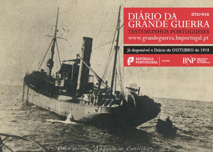 Sítio Web   Diário da Grande Guerra: testemunhos portugueses   outubro de 1918