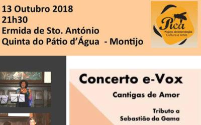 Convite para concerto e-Vox – Ermida Sto. António – Montijo – 13 Outubro – 21h30