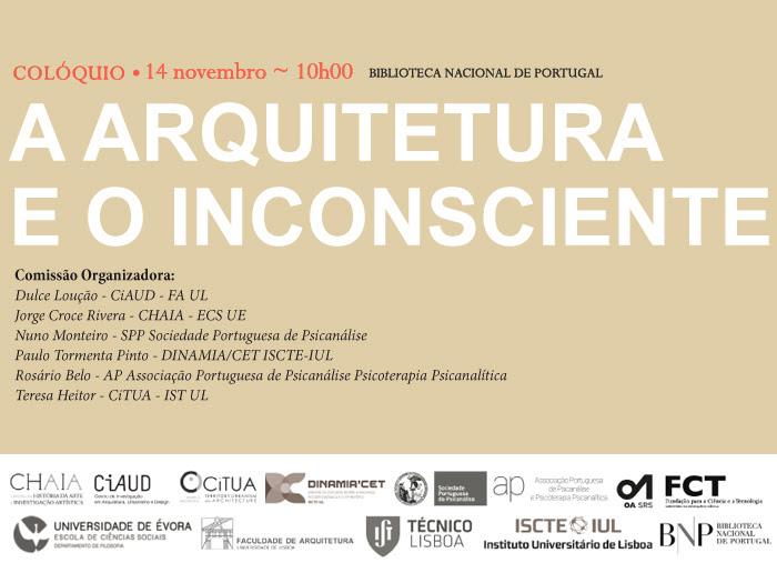 Colóquio | A Arquitetura e o Inconsciente | 14 nov. | 10h00 | BNP