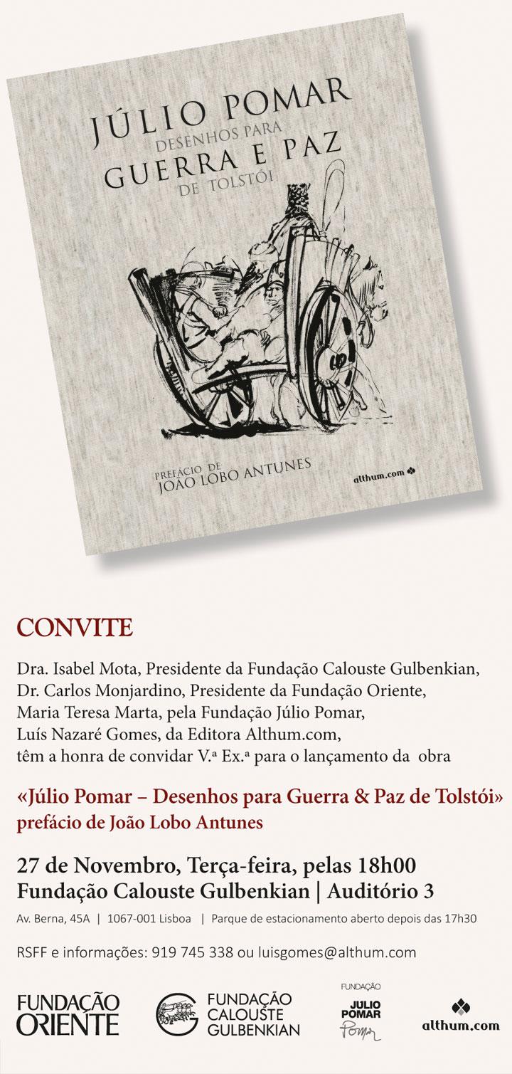 «Júlio Pomar – Desenhos para Guerra & Paz de Tolstói» – prefácio de João Lobo Antunes