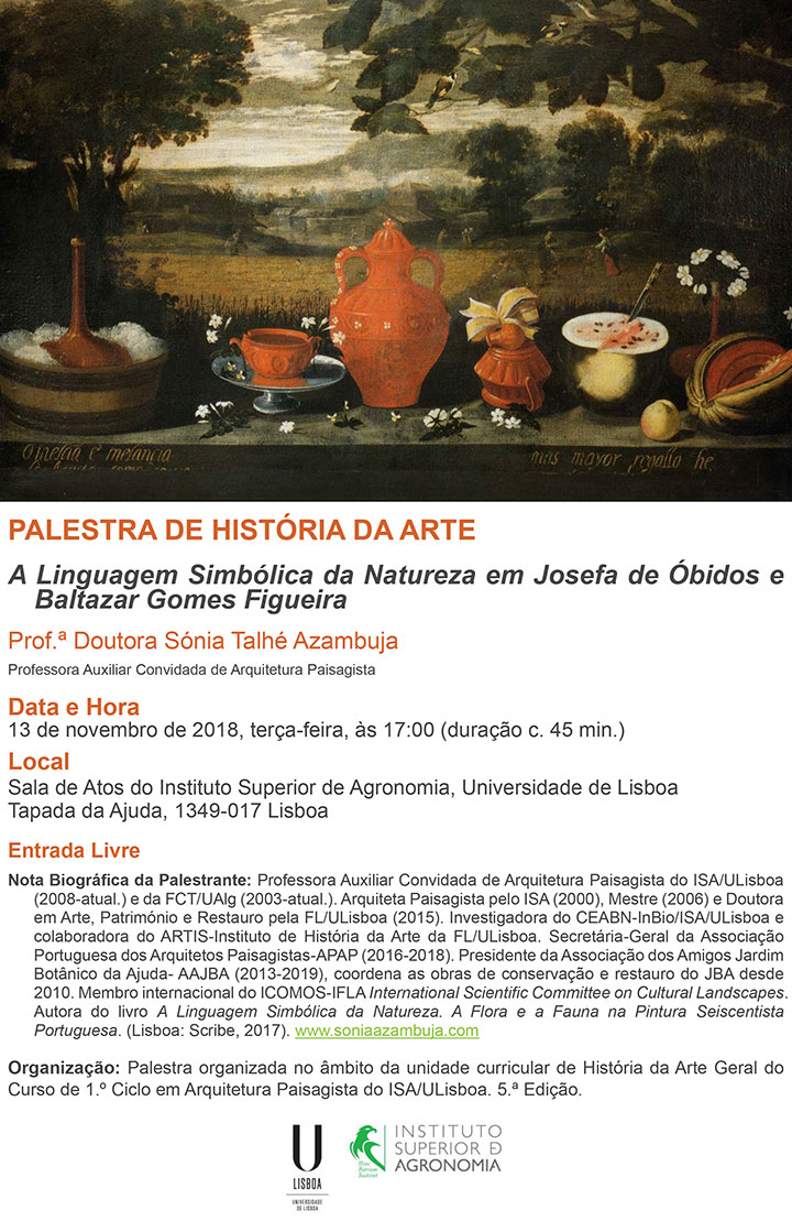 Palestra de História da Arte sobre Josefa de Óbidos e Baltazar Gomes Figueira