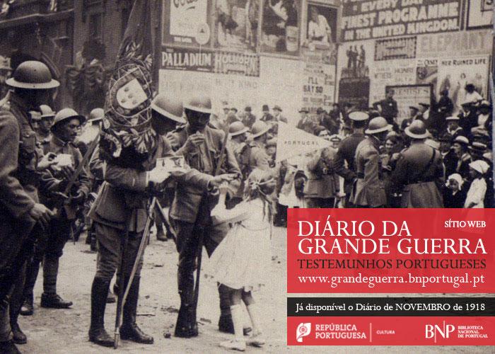 Sítio Web   Diário da Grande Guerra: testemunhos portugueses   novembro de 1918