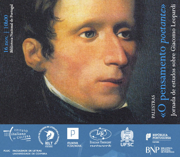 Palestras | «O pensamento poetante»: jornada de estudos sobre Giacomo Leopardi | 16 nov. | 10h00 | BNP