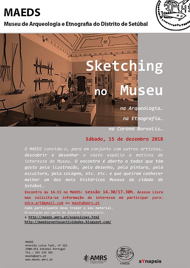 Sketching no Museu - MAEDS - 15 Dezembro - 14h30-17h30