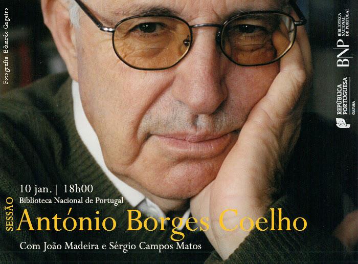 Sessão | António Borges Coelho | 10 jan. | 18h00 | BNP