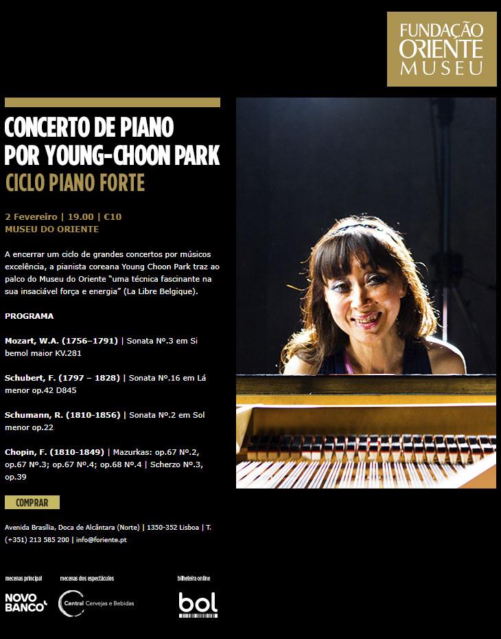 2 FEVEREIRO | CONCERTO DE PIANO POR YOUNG-CHOON PARK