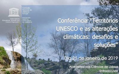 Conferência: Territórios Unesco e Alterações Climáticas – Academia das Ciências de Lisboa