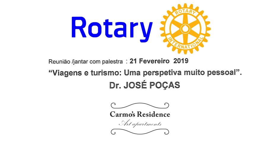 """Jantar com Palestra """"Viagens e turismo: Uma perspectiva muito pessoal"""" – Dr. José Poças"""