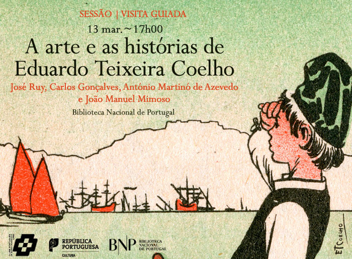 Sessão / Visita guiada | A arte e as histórias de Eduardo Teixeira Coelho | 13 mar. | 17h00 | BNP