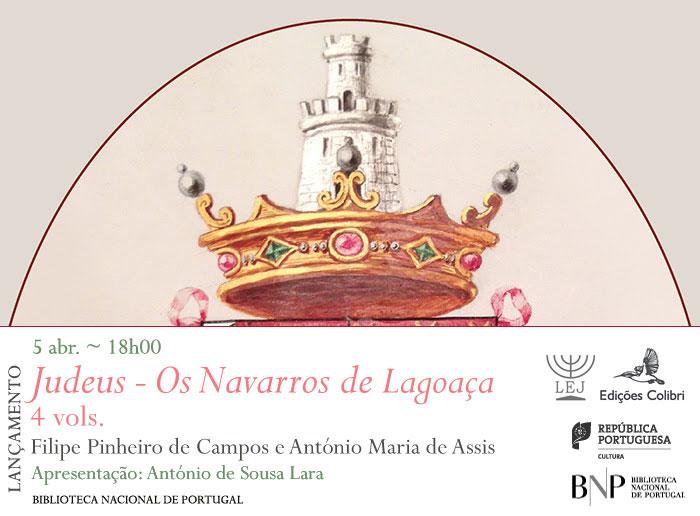Lançamento | Judeus - Os Navarros de Lagoaça | 5 abr. | 18h00 | BNP