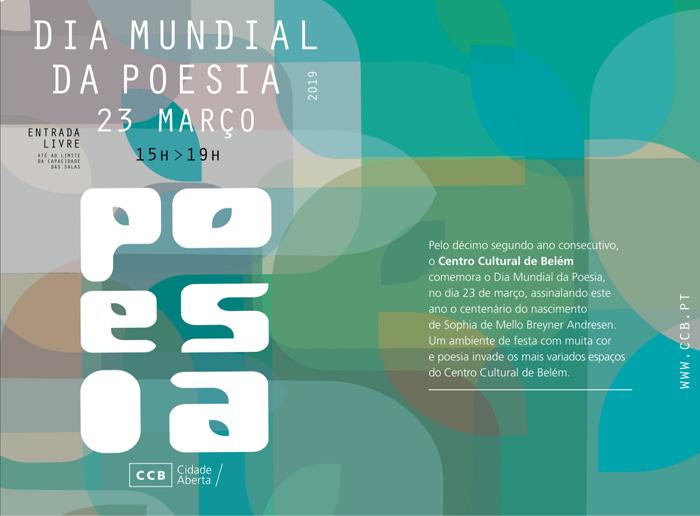 CCB | Dia Mundial da Poesia dedicado a Sophia de Mello Breyner Andresen > 23 de março, no CCB