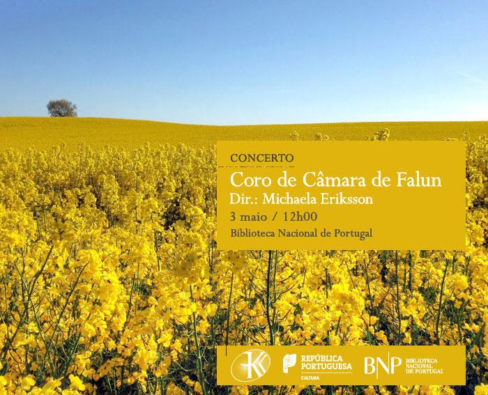 Concerto | Coro de Câmara de Falun | 3 maio | 12h00 | BNP